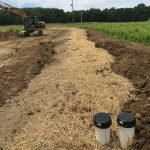 Mounded Leaching Septic System Installation in Ohio